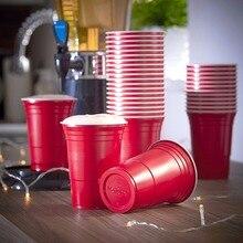 פלסטיק משקאות קרים כוס מסיבת אספקת אירוע אדום באר פונג קיבולת 16 Oz כוסות שתייה מושלם רחיץ מצחיק באר פונג משחקים