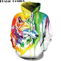 PLstar Cosmos 2017 New Unisex Wolf Lion Animals 3D All Over Print Men Women Hoodie Sweatshirt