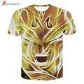 Sportlover Mujeres Hombres T Shirt Cartoon Anime Dragon Ball Z Goku Camiseta Mens de La Manera 3D de Impresión/Super Saiyan Tee Camisetas Hombre
