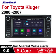ZaiXi 2 Din Car Multimedia Player Android 9 Auto Radio For Toyota Kluger 2000~2007 DVD GPS 8 Cores 4GB+32GB Bluetooth WiFi HD isudar car multimedia player gps android 7 1 2 din dvd automotivo for land rover freelander 2 2007 2012 wifi radio fm quad cores