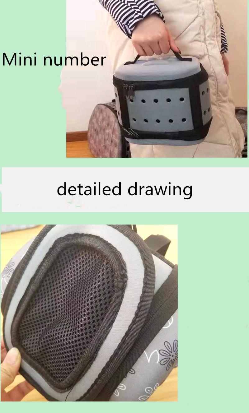 Portable Large Dog Backpack Carrier Saddle Bag 24