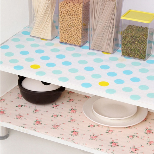 Newcomdigi Attractive 3m Kitchen Table Drawer Shelf Liner Contact Paper Waterproof Mat Pad No Slid