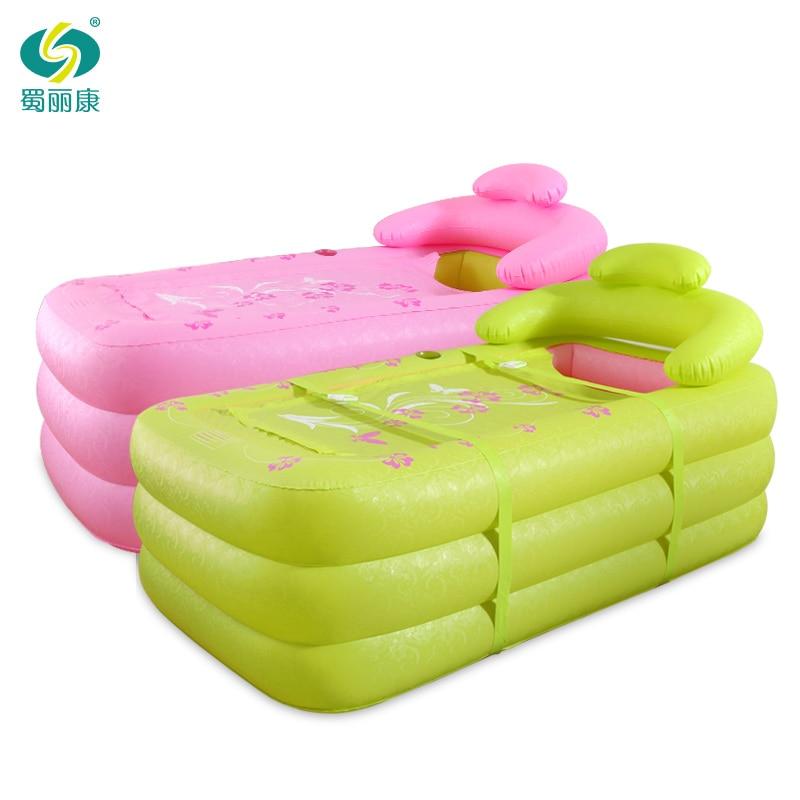 With Pump ,Ultralarge Thickening Bath Bucket ,Bathtub Adult Folding Inflatable Bathtub Double Portable Bathtubs