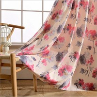 Printed Blackout Curtains Living Room Bedroom Drop Kitchen Textile Fiber Door Product Curtains Free Shipping Supply