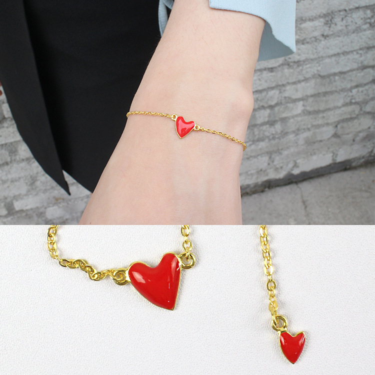 925 sterling silver bracelets for women pulseras mujer, chic red heart bracelets & bangles love jewelry girls gift collares 2018