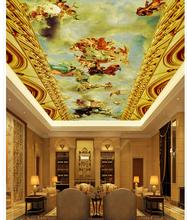 Angel ceiling painting 3d wallpaper modern for living room murals Home Decoration 3d wallpaper mural ceiling white and black 3d wallpaper modern for living room murals 3d room wallpaper landscape home decoration