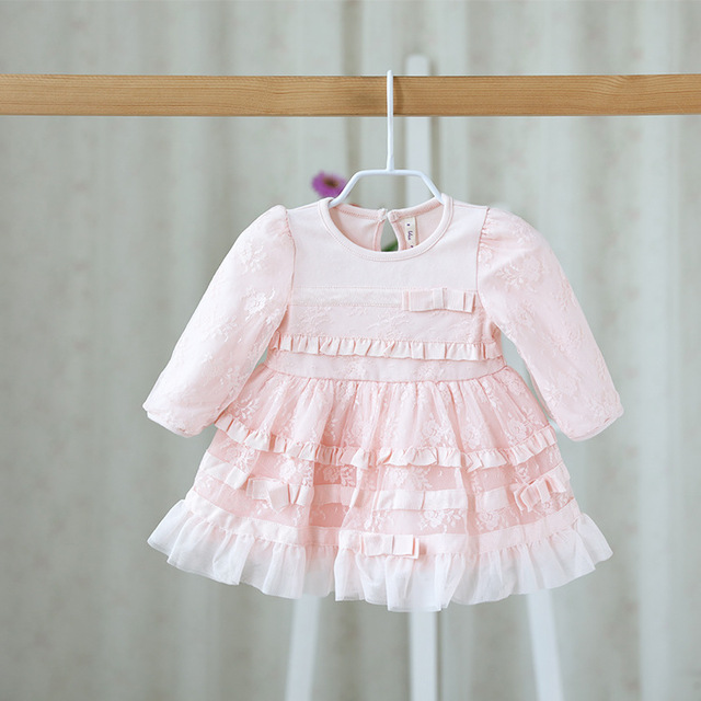 0df609bab13 2016 autumn new children s dress wholesale sweet and lovely children s  Princess Dress Girls lace dress for