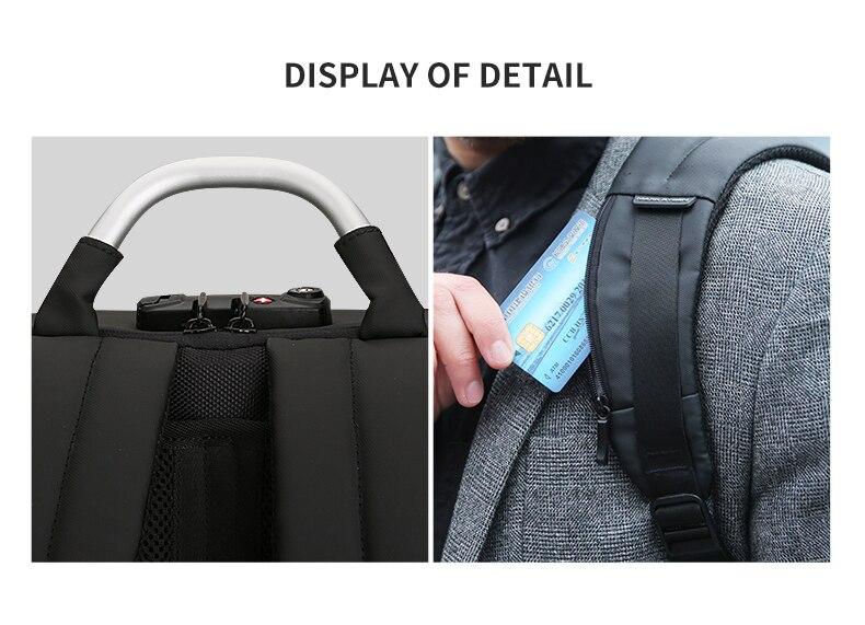 Mark Ryden MR6832 45cmx30cmx14cm 1.6kg 20-35Liter Polyester Laptop Backpack