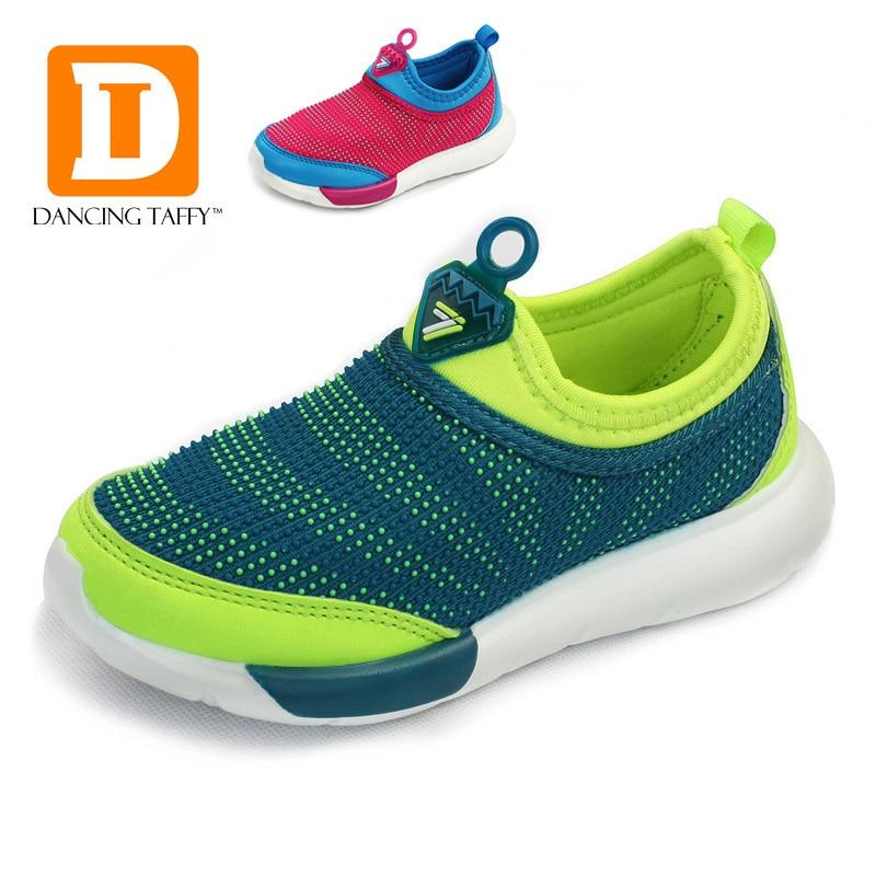 Sepatu anak-anak bernapas, 2019 sepatu anak-anak baru, Kain Strech padat alas kaki anak-anak, Menjalankan olahraga kasual anak laki-laki perempuan Sneakers