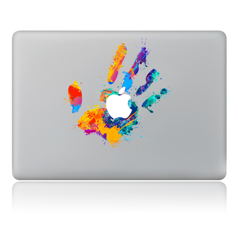 Colored paint handprint Vinyl Decal Laptop Sticker For DIY Macbook Pro Air 11 13 15 inch Laptop Skin