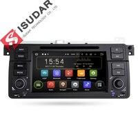 Isudar Штатная Автомагнитола мультимедиа навигация автомобильный навигатор 1 Din на android 8.1 1 с Сенсорным 7 Дюймовым Экраном для автомобилей BMW/E46/