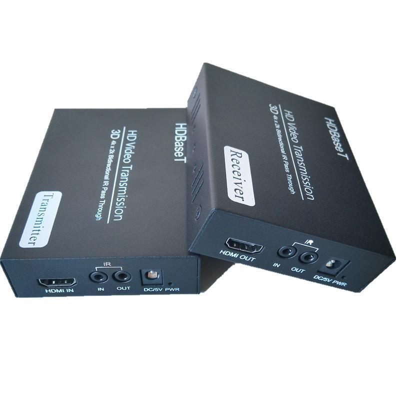 HDBaseT Uncompressed 1080p 3D HDMI Extender Over RJ45 CAT6 UTP LAN Ethernet Balun Repeater Support 4K*2K RS232 Bidirectional