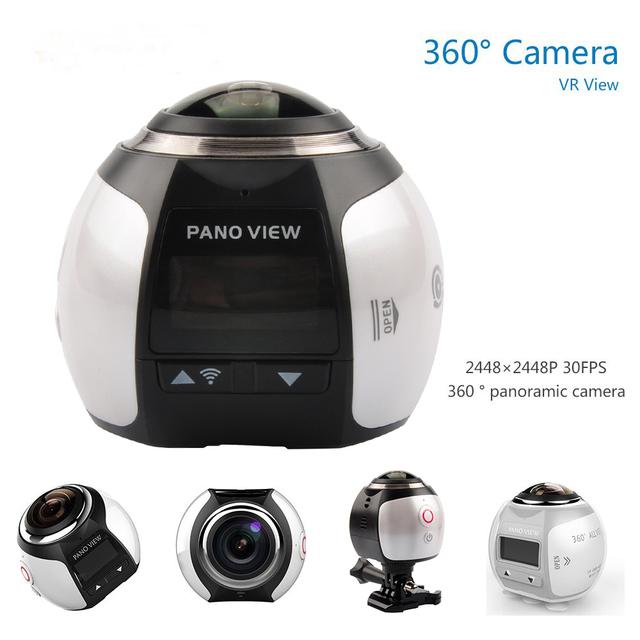 Câmera de 360 4 K Wifi Action Camera 2448*2448 tela Ultra HD Câmera Panorama de 360 Graus 220*360 À Prova D' Água esporte de Condução Câmera VR