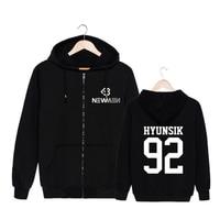 Mainlead Kpop Korean BTOB 9th Mini Album Cotton Zipper Hoodies Clothes Zip Sweatshirt