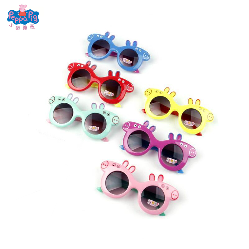 Peppa Pig Sunglasses Children's Anti-UV Sunglasses Cartoon Sunglasses 3-8 Year Old Gift Toy Free Delivery