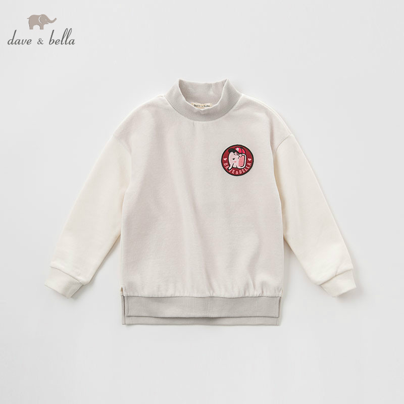 DBK8329 dave bella kids girls autumn infant baby fashion t-shirt toddler top children 5-13Y high quality tees clothesDBK8329 dave bella kids girls autumn infant baby fashion t-shirt toddler top children 5-13Y high quality tees clothes