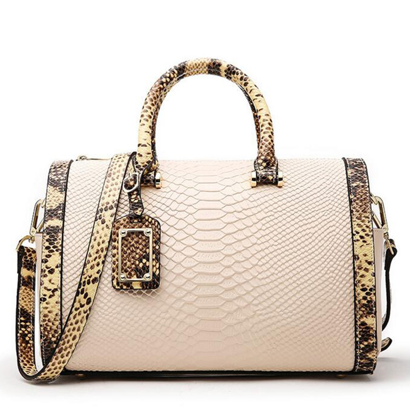 WILIAMGANU Snake Big Genuine Leather Bag New Luxury Handbags Women Bags Designer Famous Brand Women Messenger Shoulder Bags new 2017 women handbags sequery embroidery luxury patent leather famous brand designer shoulder bags women messenger bags