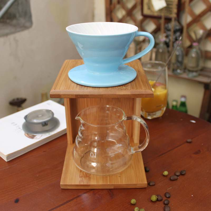 Pour Over Coffee Maker Stand : DIY pour over Coffee Maker sets : V 60 coffee dripper + glass server + bamboo stand Kitchen ...