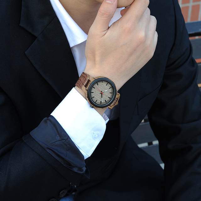 Wood And Leather Watch
