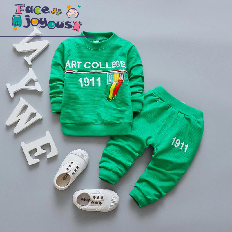 Tracksuits For Girls Kids Sports Suits Boys Tops Shirt + Trousers 2pcs Clothing Sets Childrens Costumes Baby Clothing Set