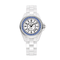 Amica Women S D Ceramics Quartz Sapphire Silver Tone Stainless Steel Wrist Watches A5 4