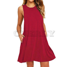CUERLY 2019 Summer Dress Women Sleeveless Boho Style Short Beach Sundress Female Casual Plus Size Shift Dresses