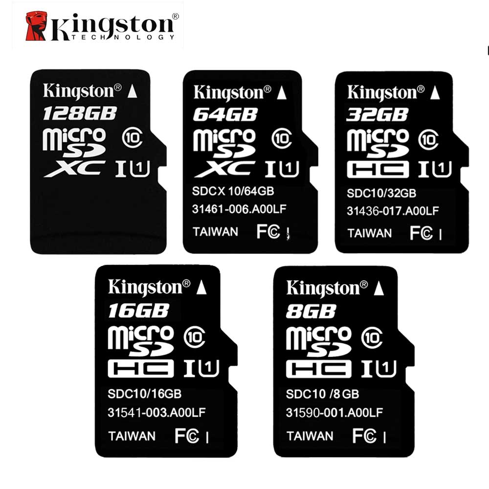 Kingston Class 10 Memory Card 8GB 16GB 32GB 64GB 128GB Micro SD Card 32G TF Card Microsd SDHC SDXC 48M/S With Adapter And Reader samsung micro sdhc tf card 64gb class 10 w tf to sd card adapter orange 64gb