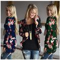 Осень Новый Женщины Повседневная Пиджаки Boho Нерегулярные Длинным Рукавом Кардиганы Обернуть Свободные Цветочный Принт Основной Плюс Размер Ветровки Топы Casacos