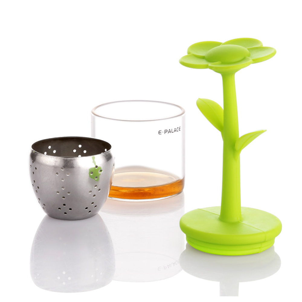 Sarissa 2 unidades color verde Infusor de t/é de silicona