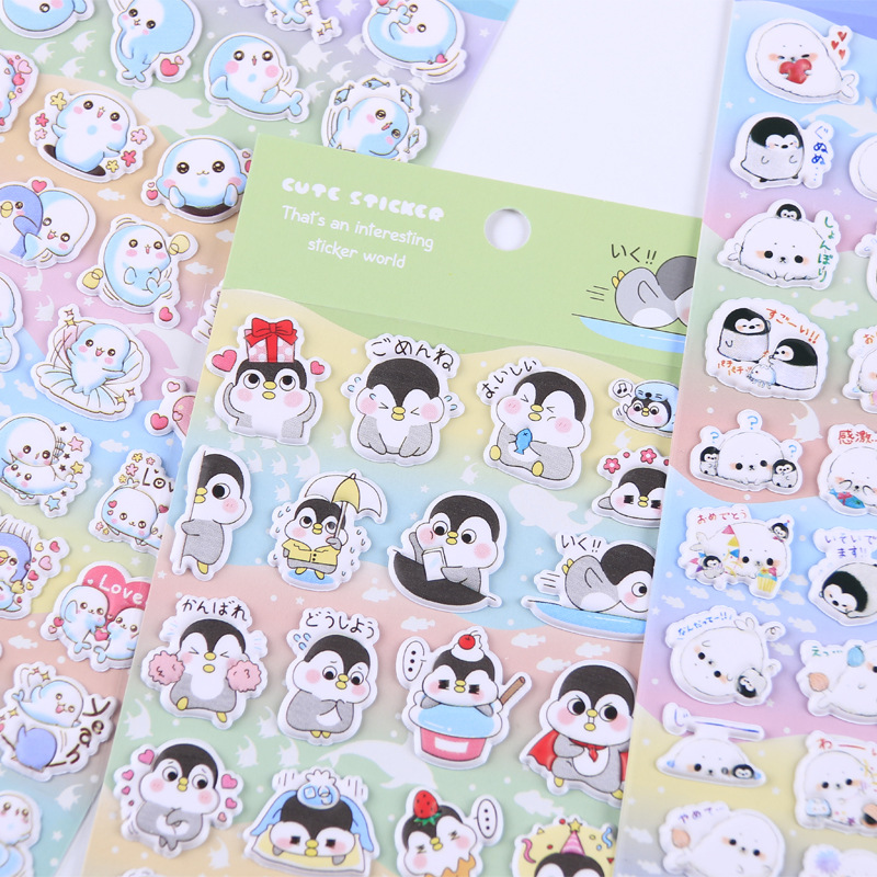 Cartoon Penguin 3D Decorative Stickers Adhesive Stickers DIY Decoration Diary Stationery Stickers Children Gift