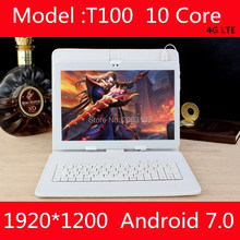 New 10 inch Deca Core tablet android 7.0 4G LTE 4GB RAM 64GB ROM 1920×1200 IPS dual sim cards cameras Wifi 10 10.1 GPS Tablets
