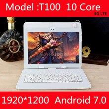 Новый 10 дюймов Дека планшет Android 7.0 4 г LTE 4 ГБ Оперативная память 64 ГБ Встроенная память 1920×1200 IPS Две сим-карты камеры Wi-Fi 10 таблетки 10.1 GPS