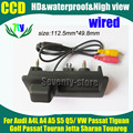 Ccd HD noite versão invertendo estacionamento câmera retrovisor para Volkswagen Tiguan Touareg Audi A4L A4 S5 Q5 Passat Golf Touran Jetta