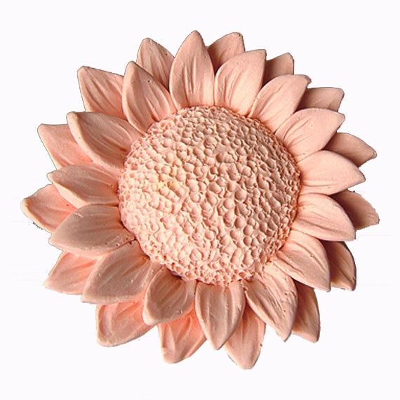 Girasole stampi In Silicone fiore muffa del sapone fiori silicone stampi sapone fiori di gel di silice die 3D stampi 3d candela Aroma di pietra