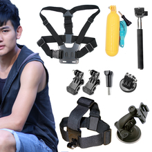 A9 For GoPro Accessories kit for xiaomi yi hero 4session/3+/3 sjcam/sj4000 action sport camera chest head strap+monopod+float