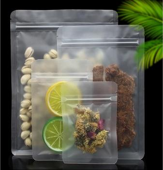 50pcs/Lot Self Sealing Ziplock Matte Clear Tea Bag Food Pouches Pack Bags Plastic Packaging For Coffee Tea 30pcs lot 2size translucent packaging bag plastic bags pouches wrappers cupcake 8 5x23cm