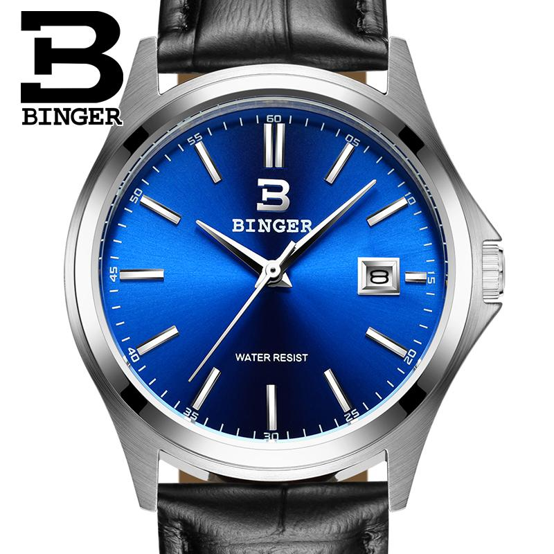 2017 Switzerland luxury men's watch BINGER brand quartz full stainless clock Waterproof Complete Calendar Guarantee B3052A8 2016 switzerland luxury watch men binger brand quartz full stainless wristwatches waterproof complete calendar guarantee b3052b6