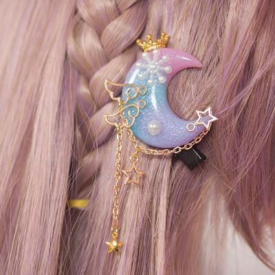 Kawaii Princess Lolita Handmade Moon Hair Accessory