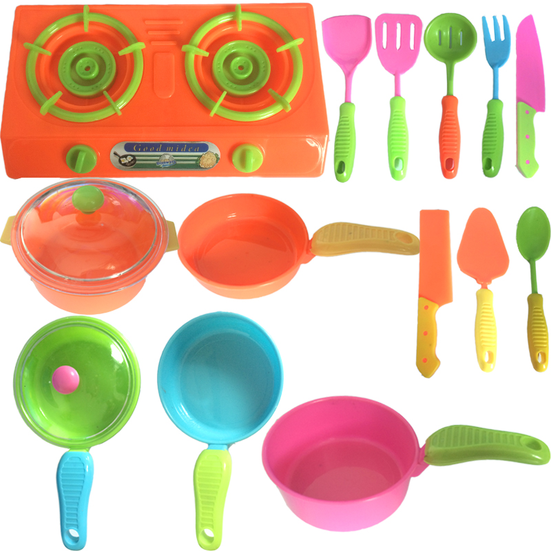 Kitchen Toys For Children Educational Classic Utensil Cooker Playset Cooking Tools Combi ...