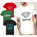 Euro Size Diamond Supply Co T Shirts Men diamond supply tshirt Cotton T-Shirt Short Sleeve Man Top Mens Tee Shirt Free SHIPPING