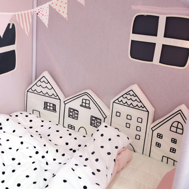 House Wall INS Doll Plush Sofa Bed Protection Enclosure Crib guardrail Safe Christmas Room Stuffed Toys Birthday Gift Pillow 3pcs star moon cloud wall hanging doll baby comforting plush stuffed room decoration christmas toys birthday gift dash pillow