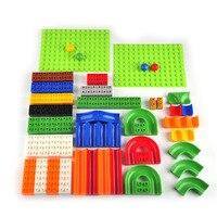 1pcs 2styles Educational DIY Construction Marble Race Run Maze Balls Track Building Blocks Colorful Block Children