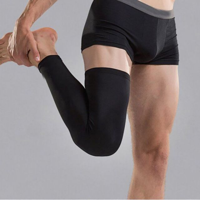 1pc Professional Sports Men Polyester Antiskid Long Knee Support