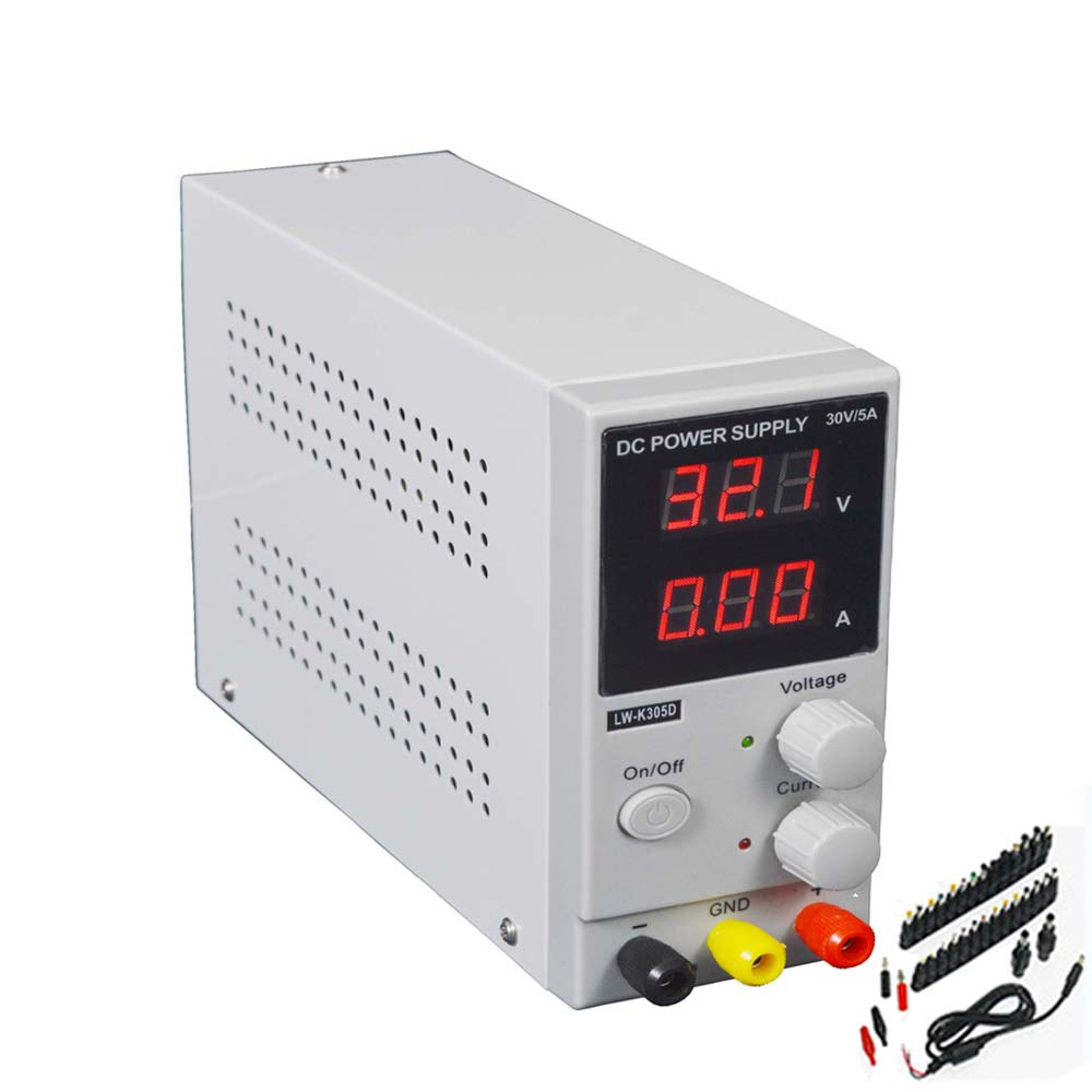 30V 10A Adjustable Power Switching PowerDC Power Supply LED Display Mini Switching Regulated Adjustable DC Power Supply four digit display rps3003c 2 adjustable dc power supply 30v 3a linear power supply repair