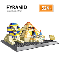 compatible LegoED Architecture Egyptian Giza Pyramids Landmark assembled Building Blocks Construction Bricks kids toy gift