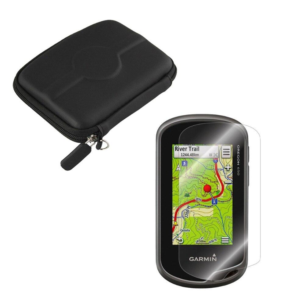 imágenes para Anti-Shock Protect Portable Case Bag + Clear Screen Protector Escudo de Cine para Garmin Oregon 600 600 T 650 650 T GPS de Mano