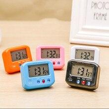 Электронные мини-часы Подсветка светодиодный Дисплей Настольный будильник часы с режимом включения по таймеру календарь Настольный украшения для дома, показывают уровень температуры