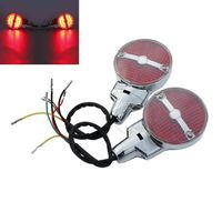 Bar Shield Rear LED Turn Signals For Harley Heritage Softail Classic FLSTC Touring Electra Glide Road King FLHR FLHTC