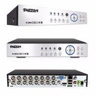 Tmezon HD 16CH 1080 P DVR HVR 3 в 1 Расширенный видеонаблюдения Системы Поддержка аналоговый TVI CVI AHD IPC 5 в 1 видео Вход