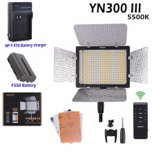 Yongnuo YN300-III Pro LED Video Light DV Camcorder for Canon Nikon Pentax Olympus Samsung Panasonic (5500K) + Battery mcoplus 130 led video light with 1 x np f750 battery for canon nikon sony pentax panasonic samsung olympus